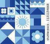 white  blue  navy geometric...   Shutterstock .eps vector #1131154868