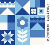 white  blue  navy geometric...   Shutterstock .eps vector #1131154874