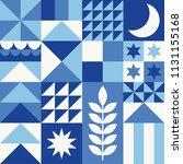 white  blue  navy geometric...   Shutterstock .eps vector #1131155168