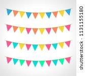 summer bunting pack | Shutterstock .eps vector #1131155180
