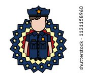 color policeman with usa... | Shutterstock .eps vector #1131158960