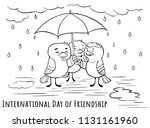 greeting doodle card day of...   Shutterstock .eps vector #1131161960