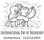 greeting card birds day of... | Shutterstock .eps vector #1131161963