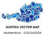 austria map collage of blue... | Shutterstock .eps vector #1131163334