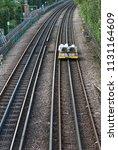 rail track engineering work is... | Shutterstock . vector #1131164609