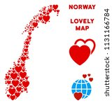 valentine norway map collage of ... | Shutterstock .eps vector #1131166784