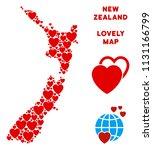 lovely new zealand map... | Shutterstock .eps vector #1131166799