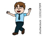 color happy boy child with... | Shutterstock .eps vector #1131167099