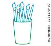 degraded line art paintbrushes... | Shutterstock .eps vector #1131170480