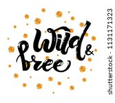vector illustration of wild and ... | Shutterstock .eps vector #1131171323