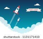 space rocket launch  | Shutterstock .eps vector #1131171410