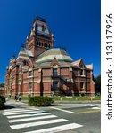 Stock photo view of one of harvard university s historic buildings in cambridge massachusetts usa 113117926