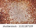 golden glitter background ... | Shutterstock . vector #1131187109