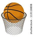 basketball hoop and ball | Shutterstock . vector #113118808