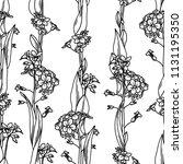 vector floral seamless pattern. ... | Shutterstock .eps vector #1131195350