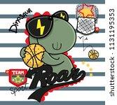 cute dinosaur basketball player ... | Shutterstock .eps vector #1131195353