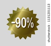 price tag  '90  off' discount... | Shutterstock .eps vector #1131201113
