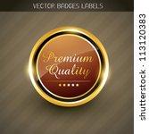 vector premium quality golden... | Shutterstock .eps vector #113120383
