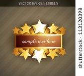 beautiful shiny golden label... | Shutterstock .eps vector #113120398