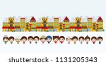 kids asian in traditional... | Shutterstock .eps vector #1131205343