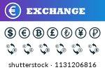 money exchange icons set. ui...