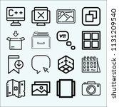 interface related set of 16... | Shutterstock . vector #1131209540