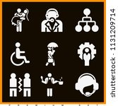 set of 9 people filled icons...   Shutterstock .eps vector #1131209714
