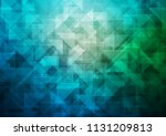 dark blue  green vector hexagon ... | Shutterstock .eps vector #1131209813