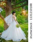 beautiful bride  turning... | Shutterstock . vector #1131210188