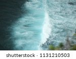 top view of the ocean waves... | Shutterstock . vector #1131210503