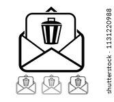 email and mail icon vector | Shutterstock .eps vector #1131220988
