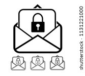 email and mail icon vector | Shutterstock .eps vector #1131221000