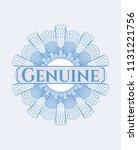 light blue linear rosette with... | Shutterstock .eps vector #1131221756