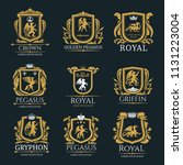 heraldic royal coat of arms and ... | Shutterstock .eps vector #1131223004