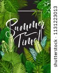 tropical summer holidays and... | Shutterstock .eps vector #1131223013