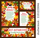 hello autumn banner template... | Shutterstock .eps vector #1131223046