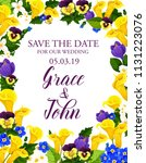save the date wedding... | Shutterstock .eps vector #1131223076