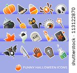 halloween design elements | Shutterstock .eps vector #113122870