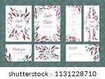 floral vintage cards set for... | Shutterstock .eps vector #1131228710