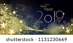 happy new year 2019 greeting... | Shutterstock .eps vector #1131230669