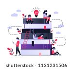 people and book. concept... | Shutterstock .eps vector #1131231506
