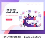 landing page template of... | Shutterstock .eps vector #1131231509