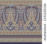 seamless paisley indian motif   Shutterstock . vector #1131232136