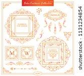 vector boho  ethnic style...   Shutterstock .eps vector #1131234854
