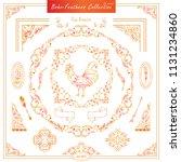 vector boho  ethnic style...   Shutterstock .eps vector #1131234860