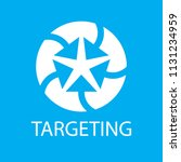 centered arrows of circle ... | Shutterstock .eps vector #1131234959