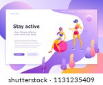 landing page template of... | Shutterstock .eps vector #1131235409