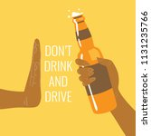 don't drink and drive  be a... | Shutterstock .eps vector #1131235766