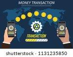 money transaction around world  ... | Shutterstock .eps vector #1131235850