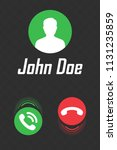 call display interface for... | Shutterstock .eps vector #1131235859